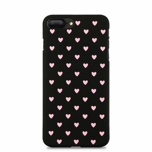 NEW iPhone X Black Polka Heart Case