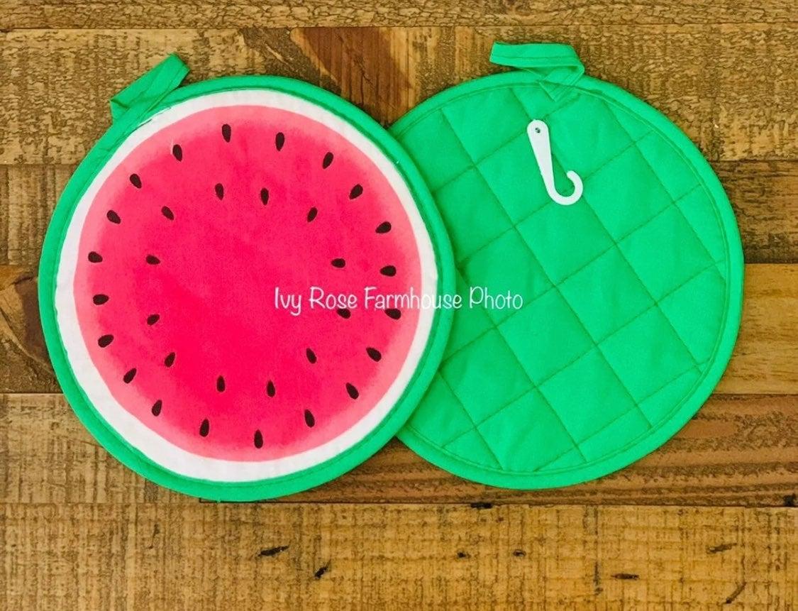 Farmhouse Watermelon Pot Holder Set