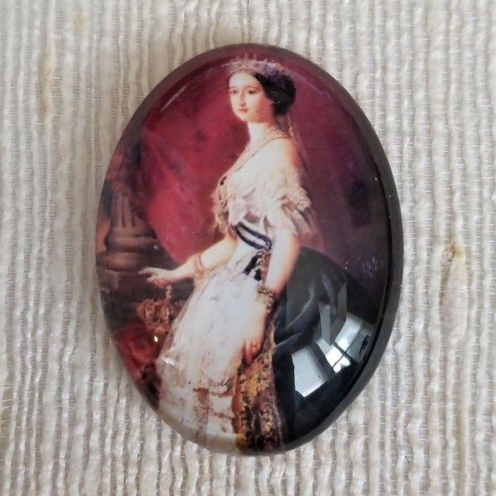 XL Victorian Cameo Glass Cabochon 6036