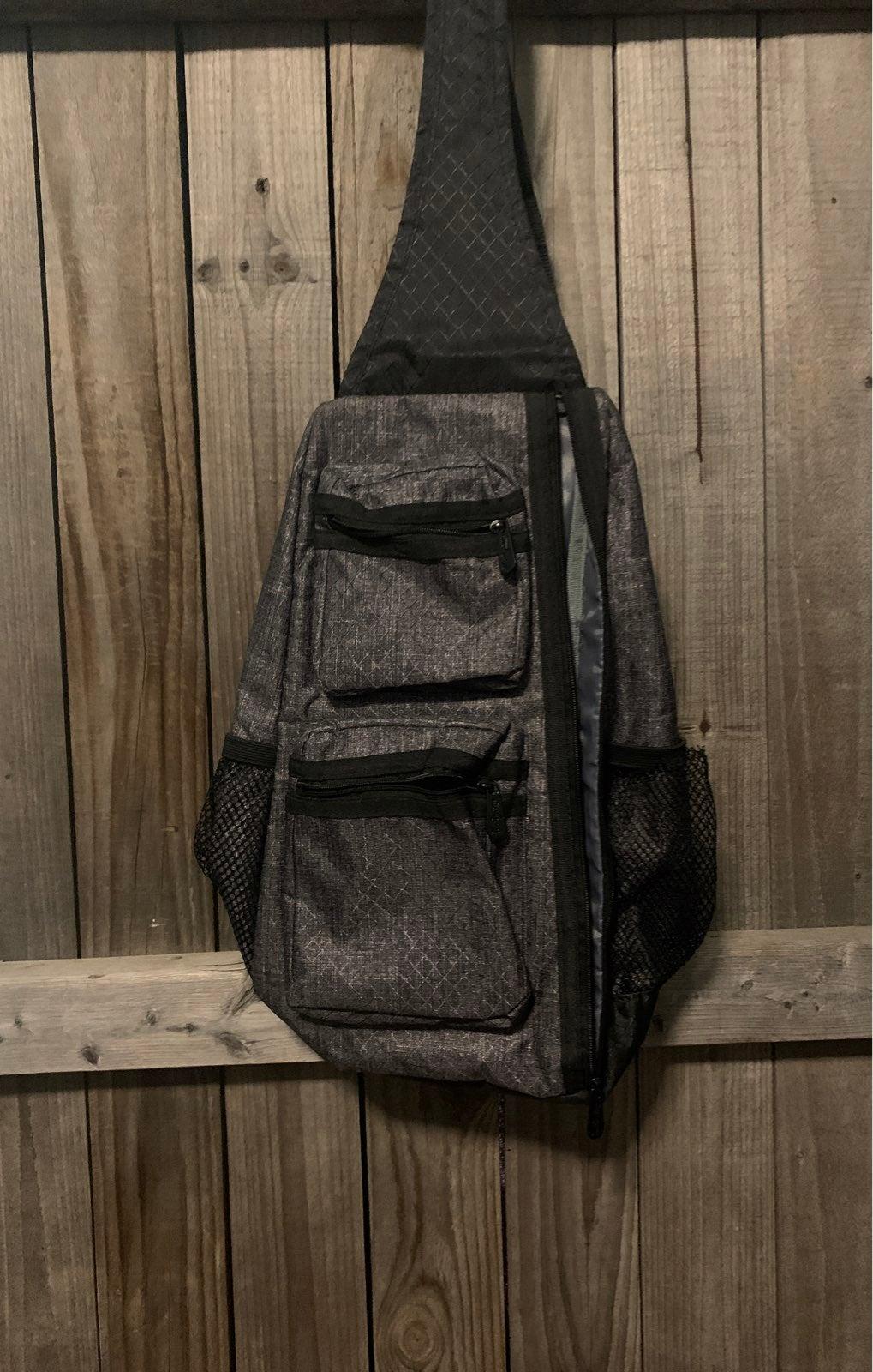 Thirty-One Sling Back Bag Charcoal Hatch
