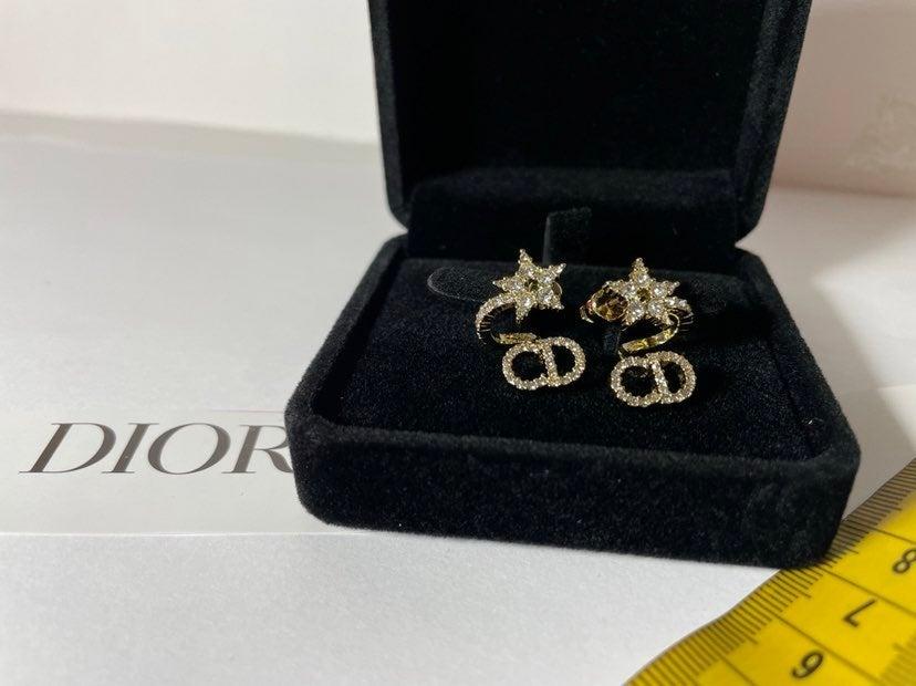 CD star earrings