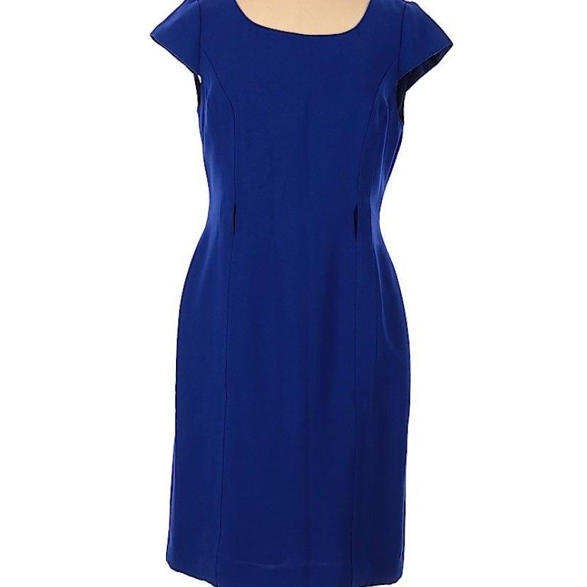 Tahari by ASL Cobalt Blue Dress