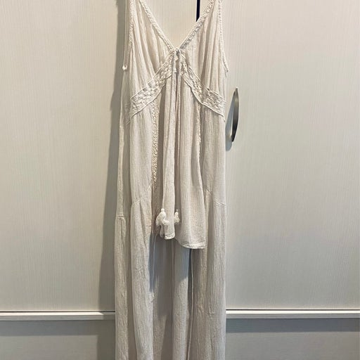 White High Low Tie Swim Cover Up