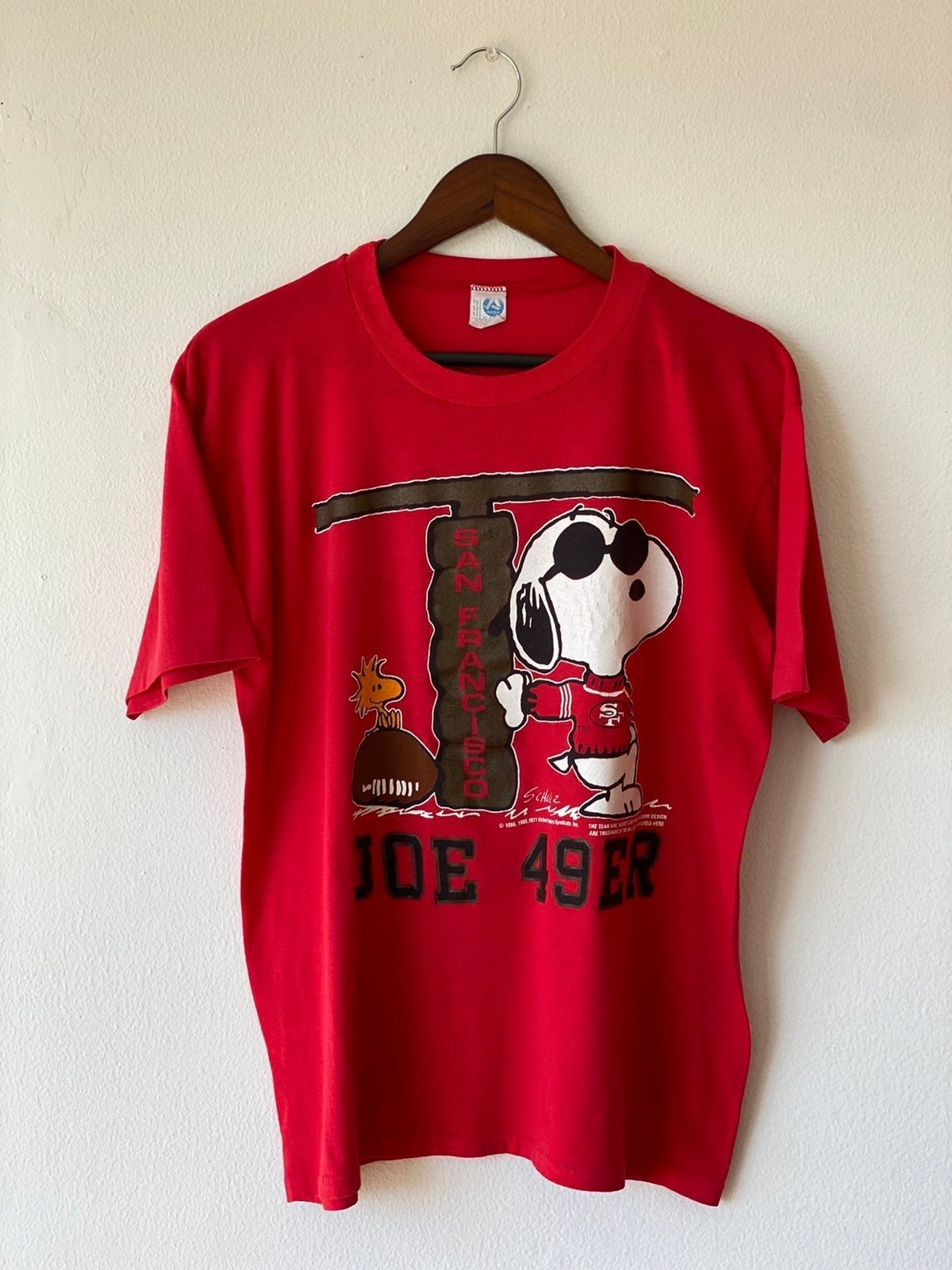 Vtg 70s SF 49ers Joe 49er Snoopy Shirt