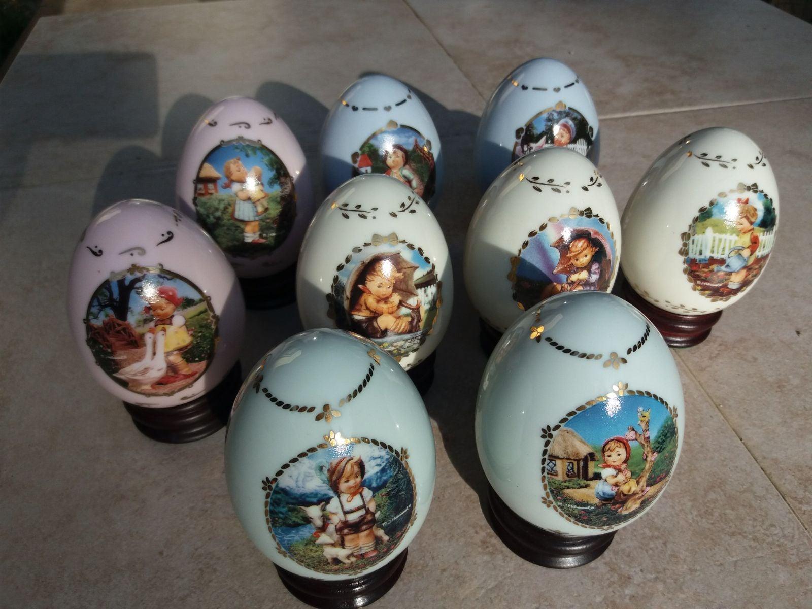 LOT OF 9 VINTAGE M.J. Hummel Porcelain E