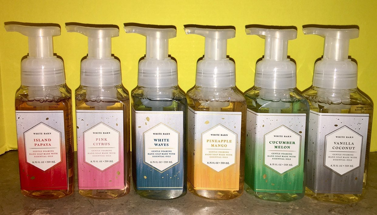 Bath and Body Works hand soap collection