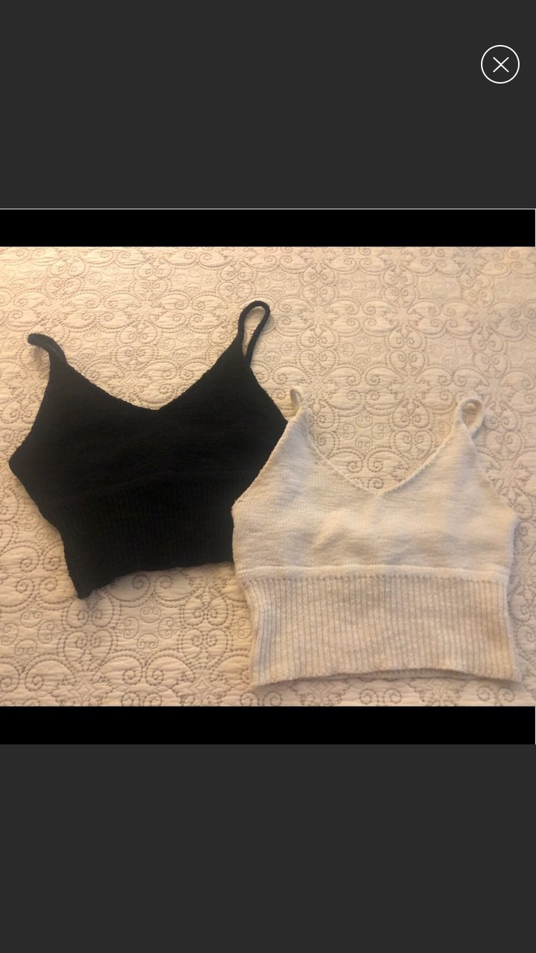 Cream & black knit crop top bundle