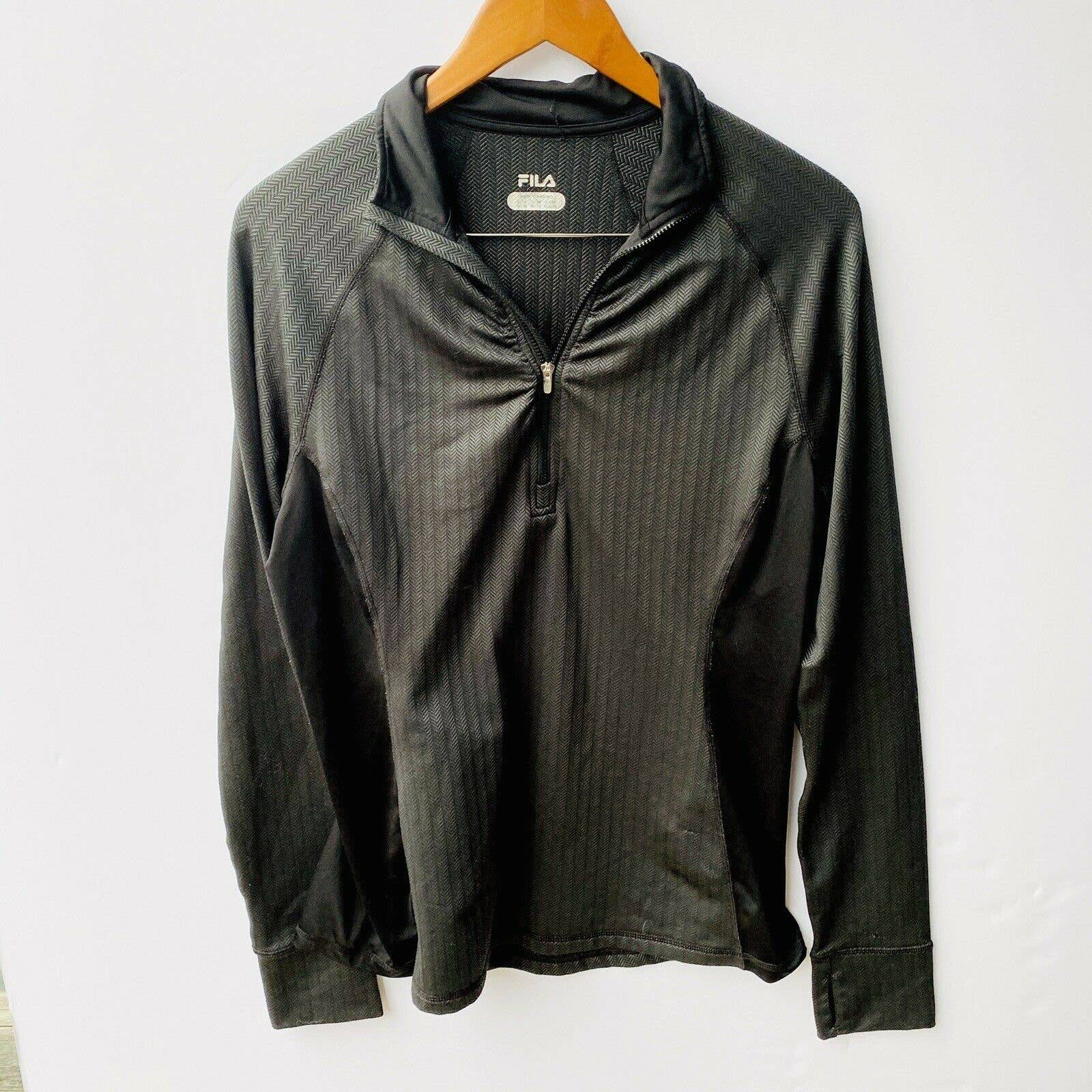 Fila Quarter Zip Pullover Jacket BlackXL