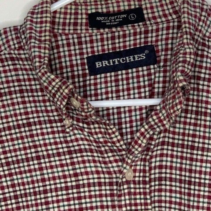 Britches Mens Shirt Plaid Flannel