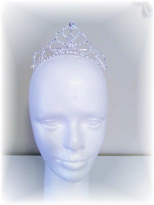 """Bridal """"Heart Bling"""" Tiara Haircomb"""