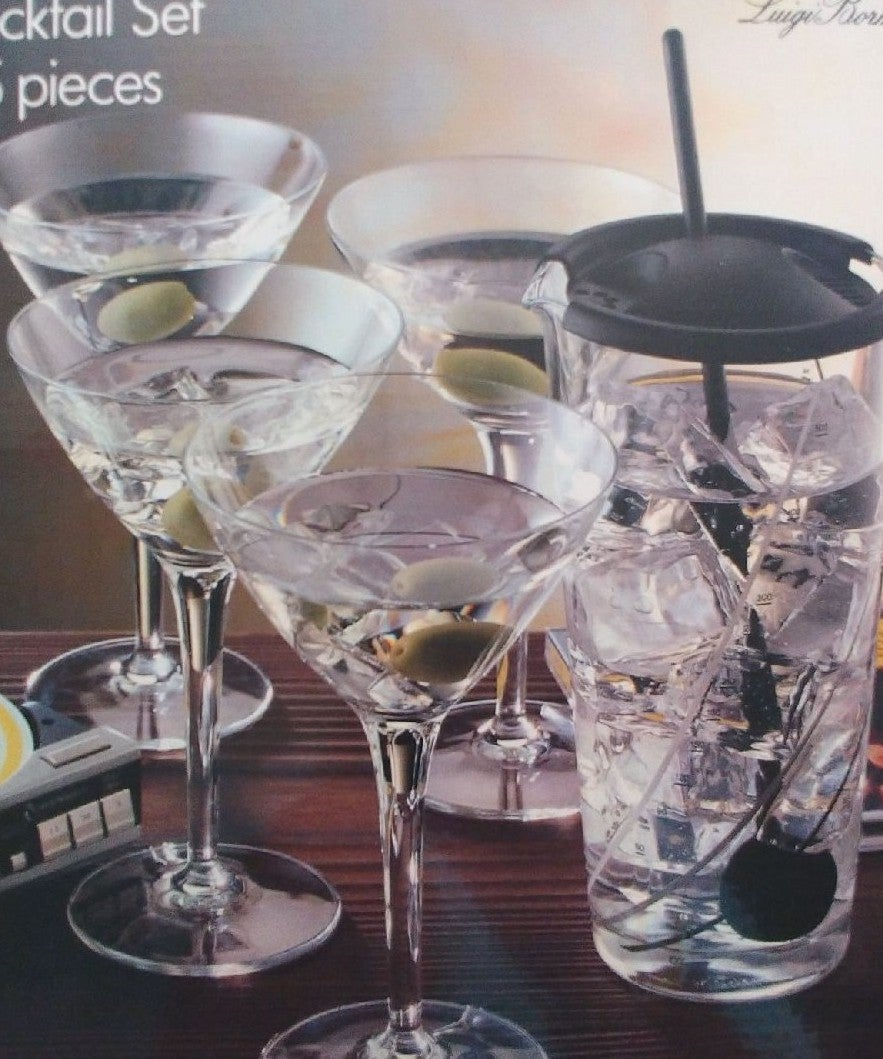 Cellini 5 piece crystal cocktail set