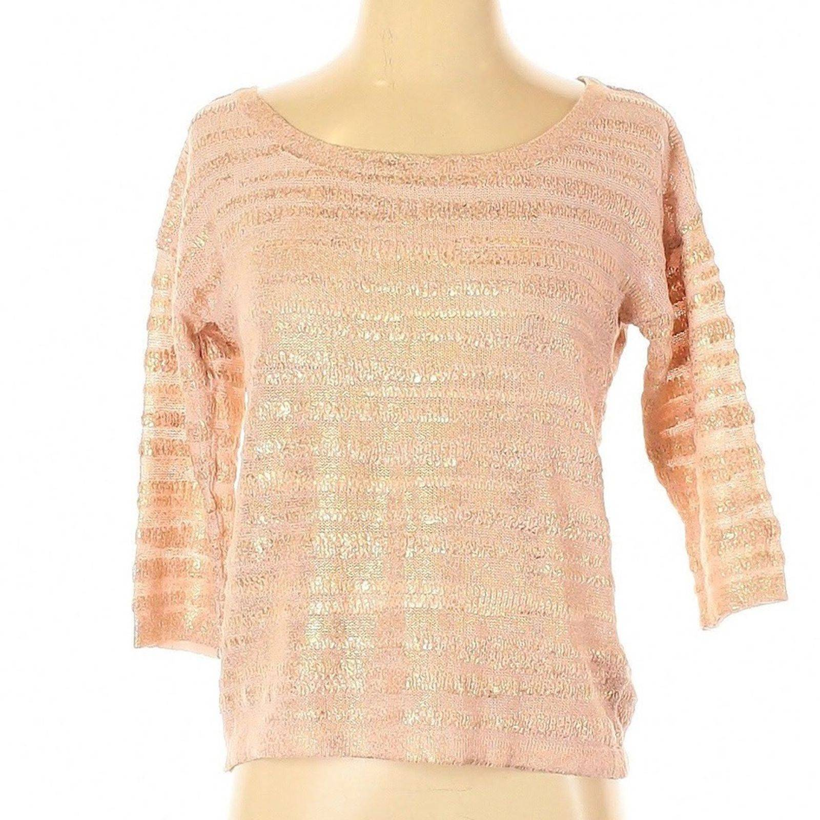 [9-11] H&M | pink & gold striped sweater