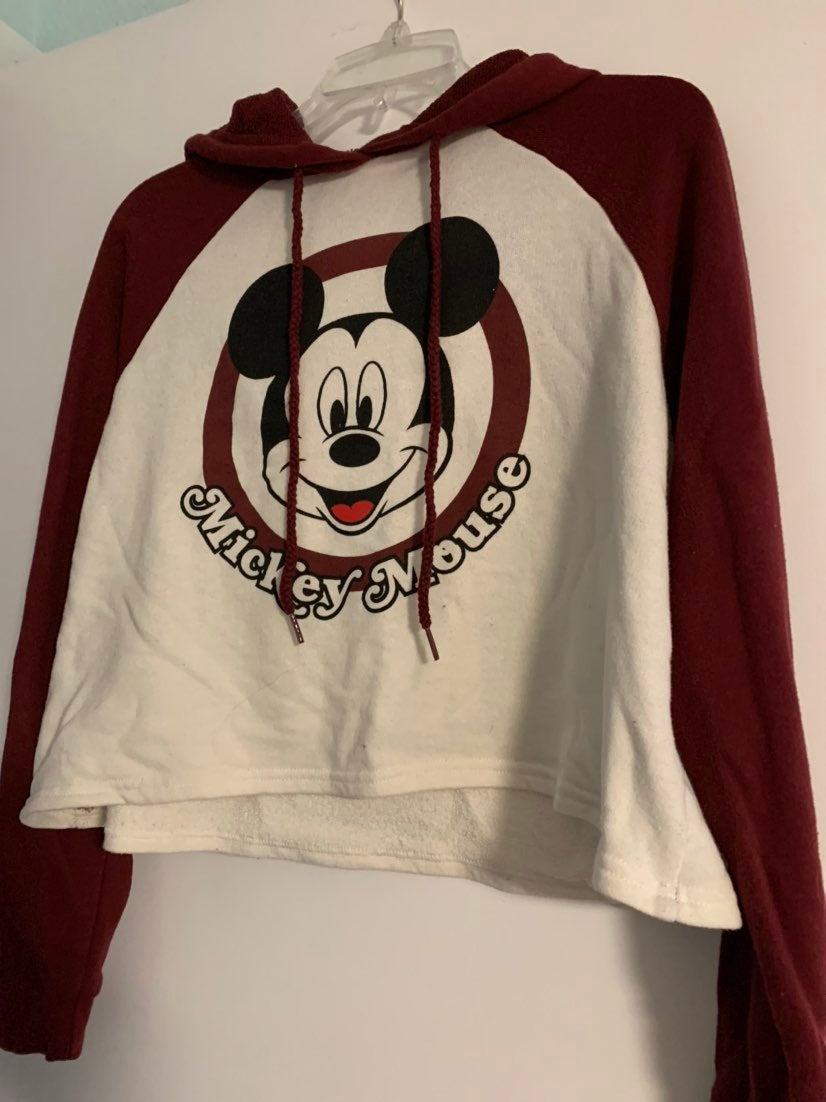 Disney Mickey Mouse Cropped Hoodie