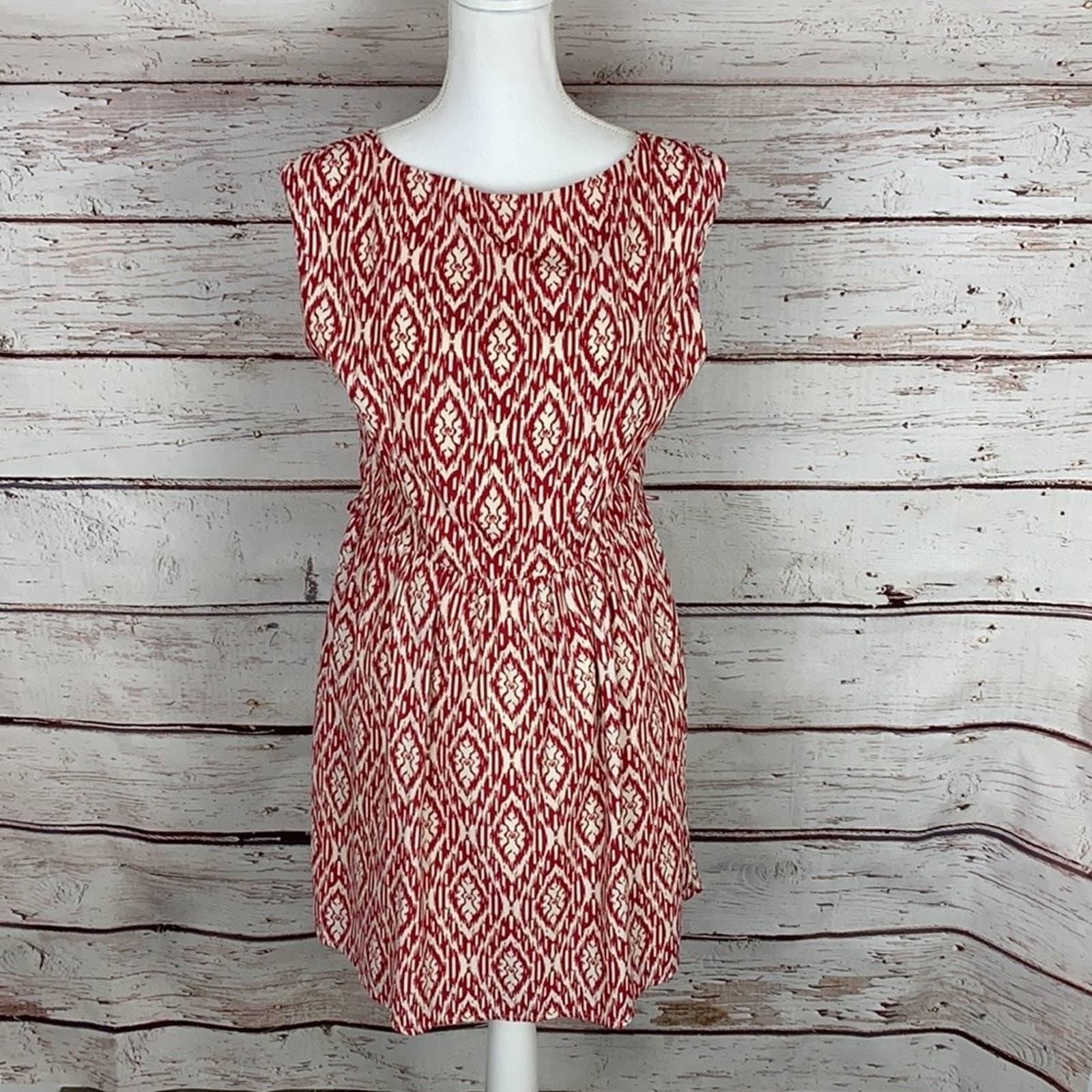 Pink Owl Apparel Red/Cream Dress L
