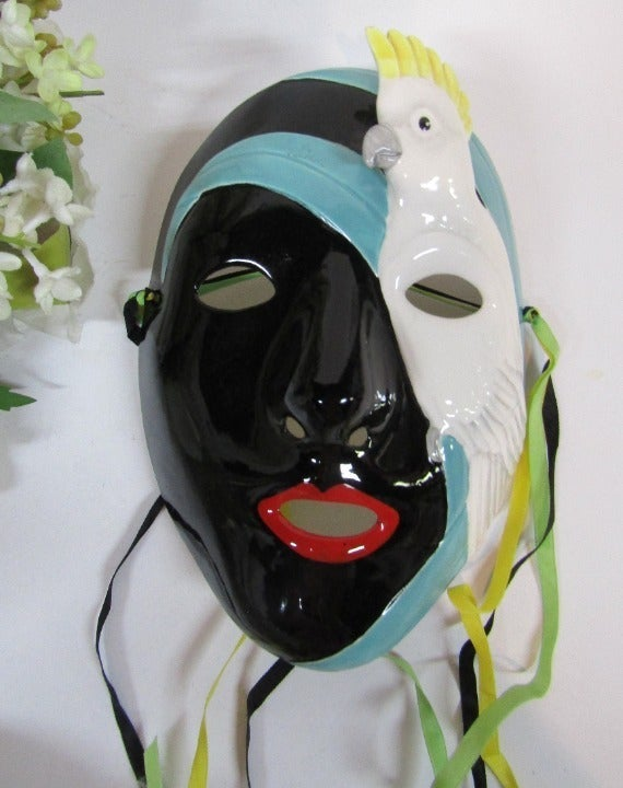 Ceramic Face Mask with Cockatoo