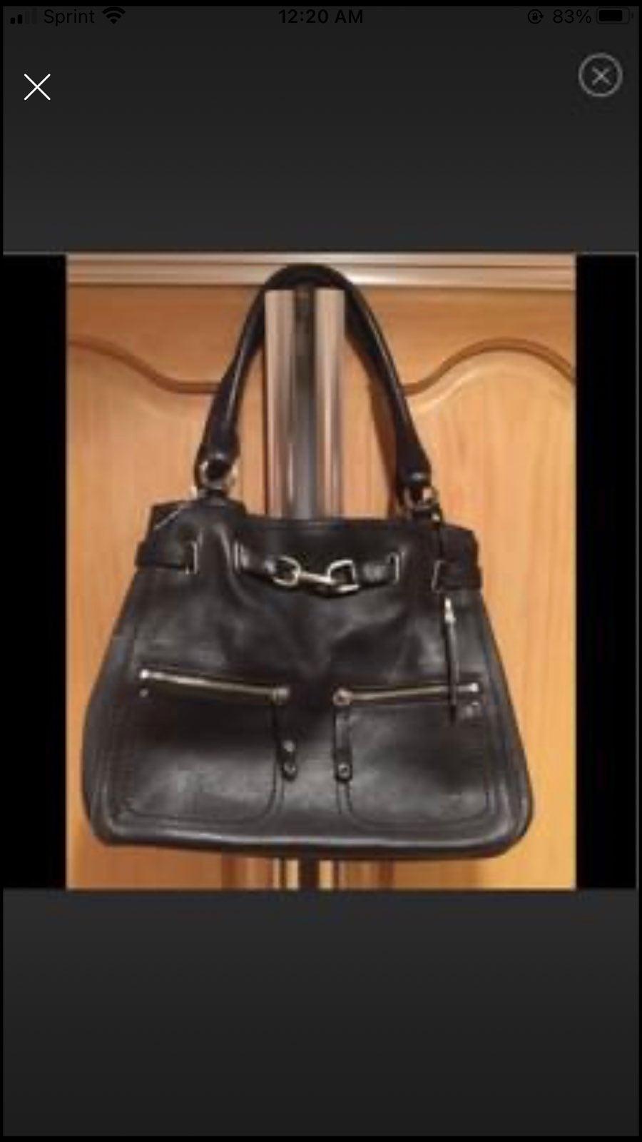 Cole Haan Black Leather Big Purse Bag