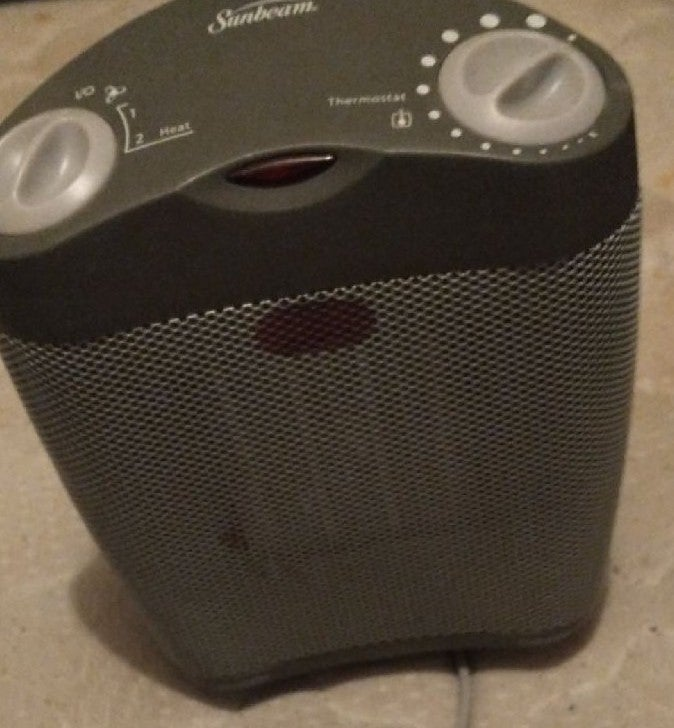 Space heater with fan