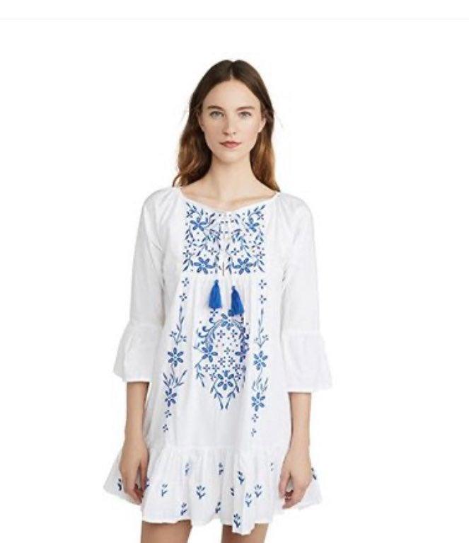 NWT Roller Rabbit White Maricruz Dress
