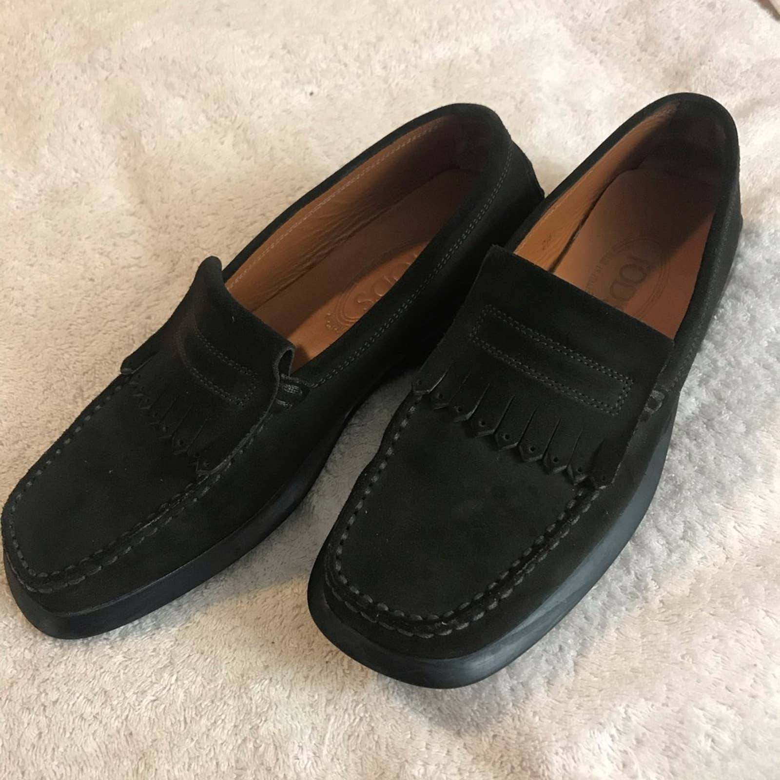 Tod's Rubber Sole Suede Loafers 9.5