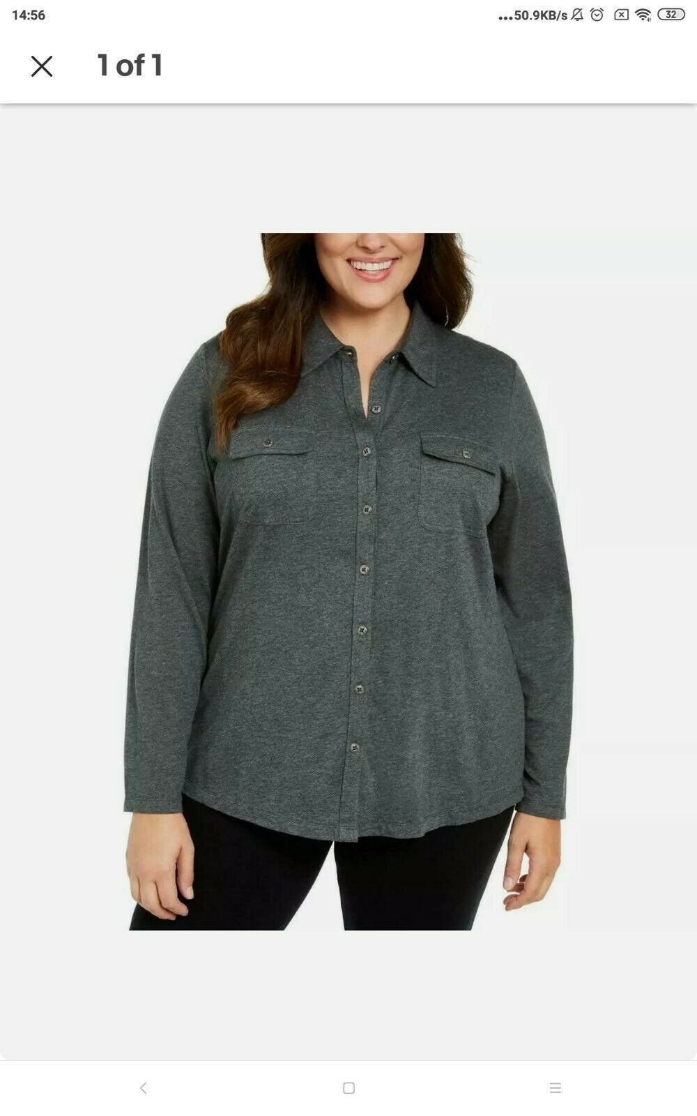 Karen Scott Women's Plus 0X Shirt