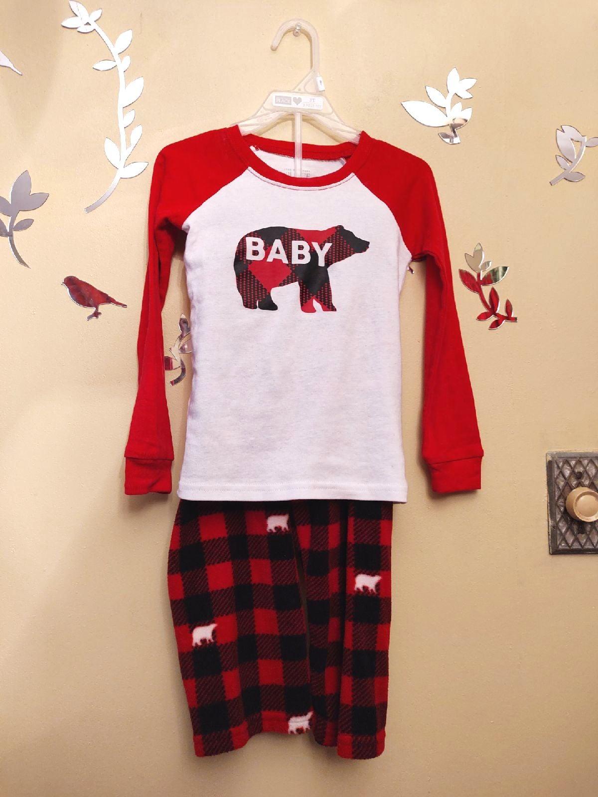 pajamas toddler size 3t