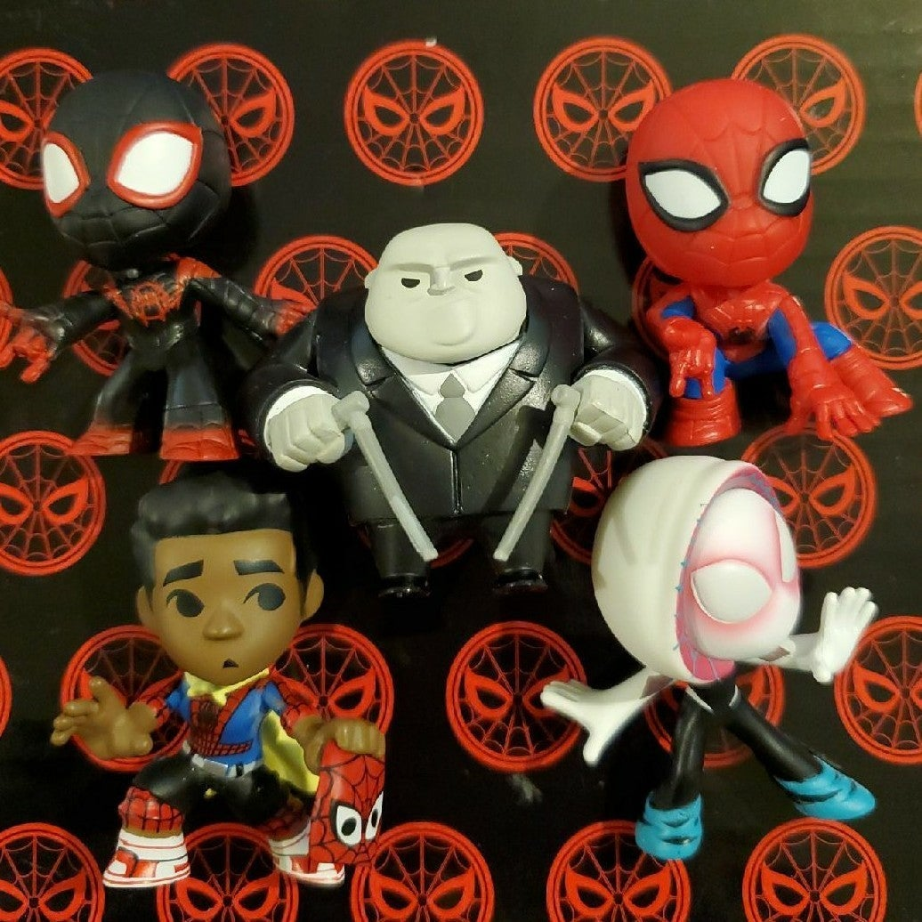 Spider-man Funko Mystery Minis 5 figures