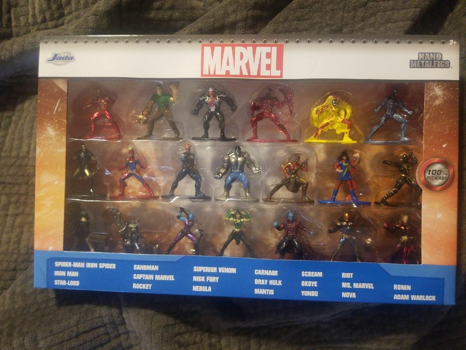 By Jada Marvel Nano Metalfigs 20 Blind Bags Figures Collectors Set Die-Cast New