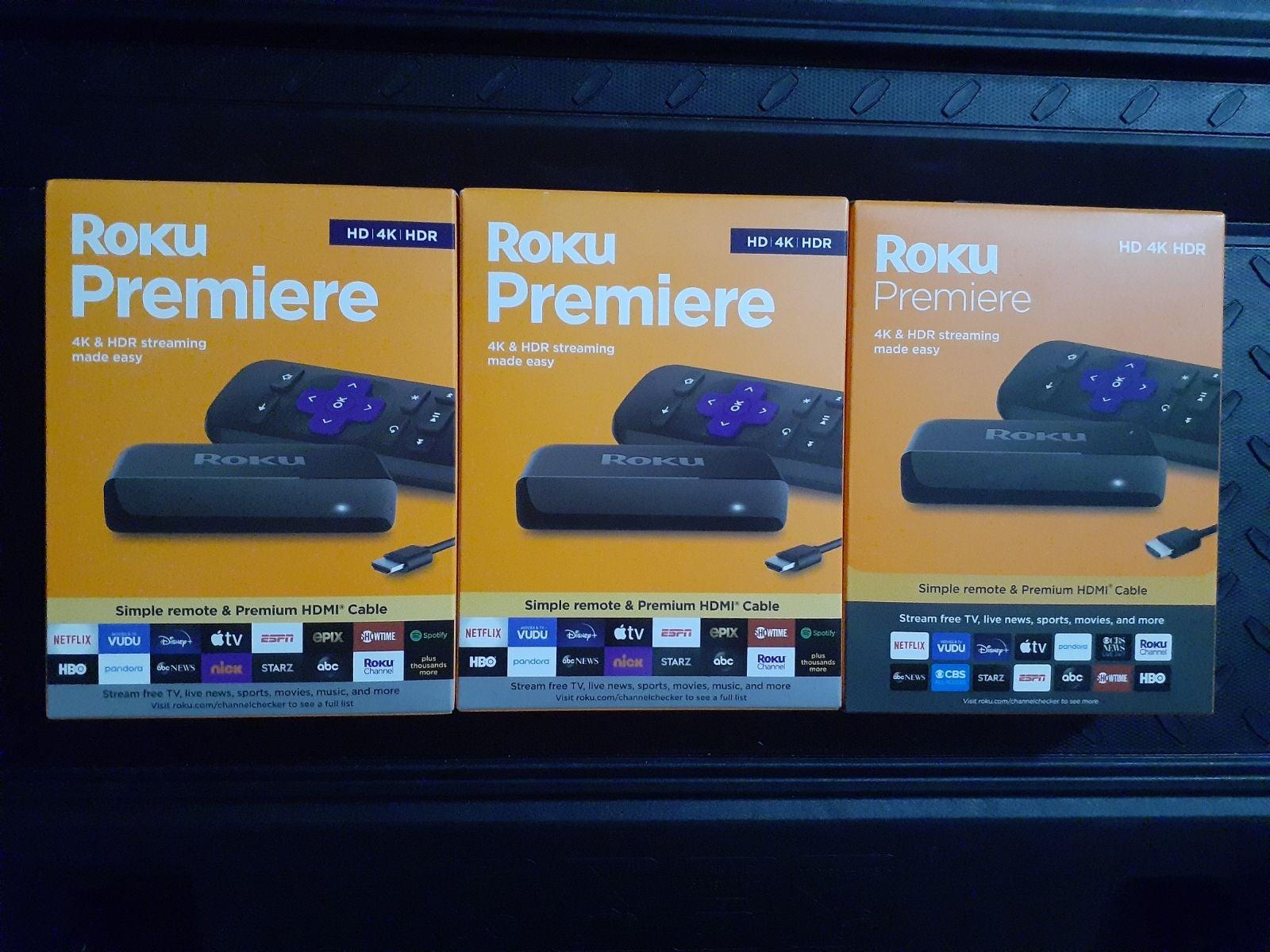 """Roku Premiere 4k Bundle """"3"""""""