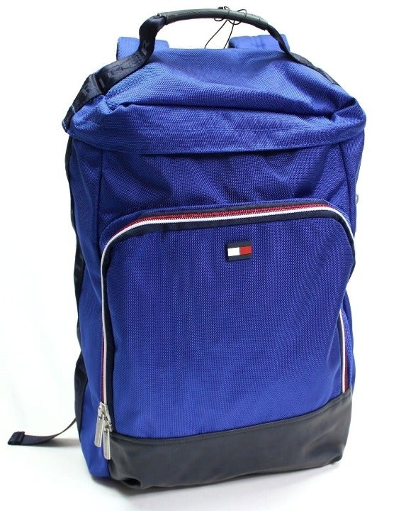 TOMMY HILFIGER Blue Backpack Text Strap