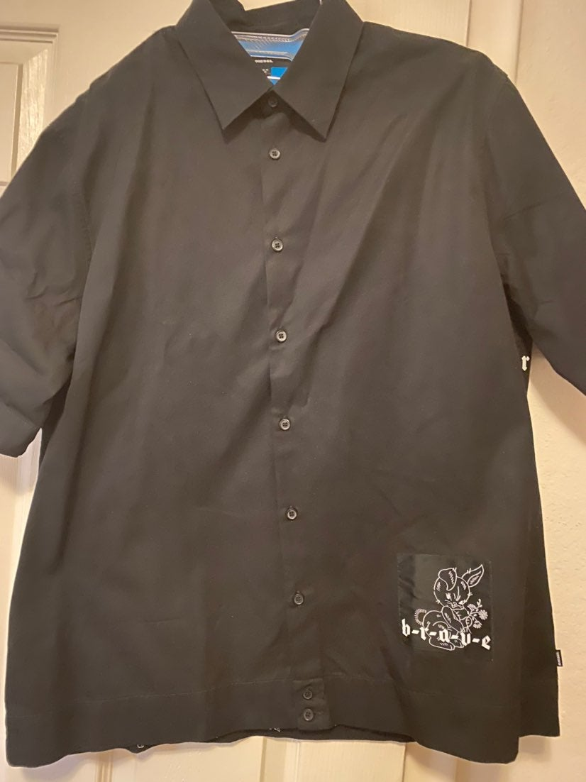 Diesel Bowling Rabbit Motive shirt