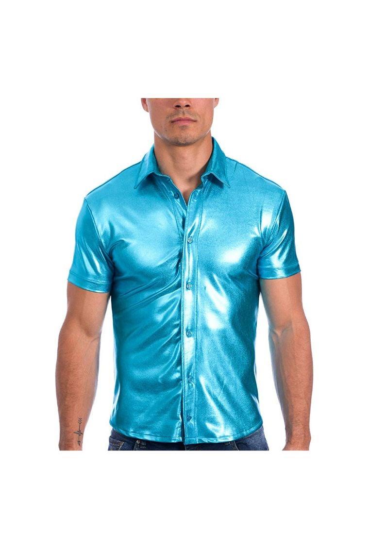 Gary Majdell Metallic Button Down Shirt