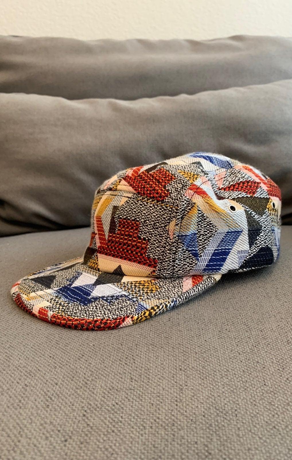 Hat - 5 panel cool flat bill pattern fab