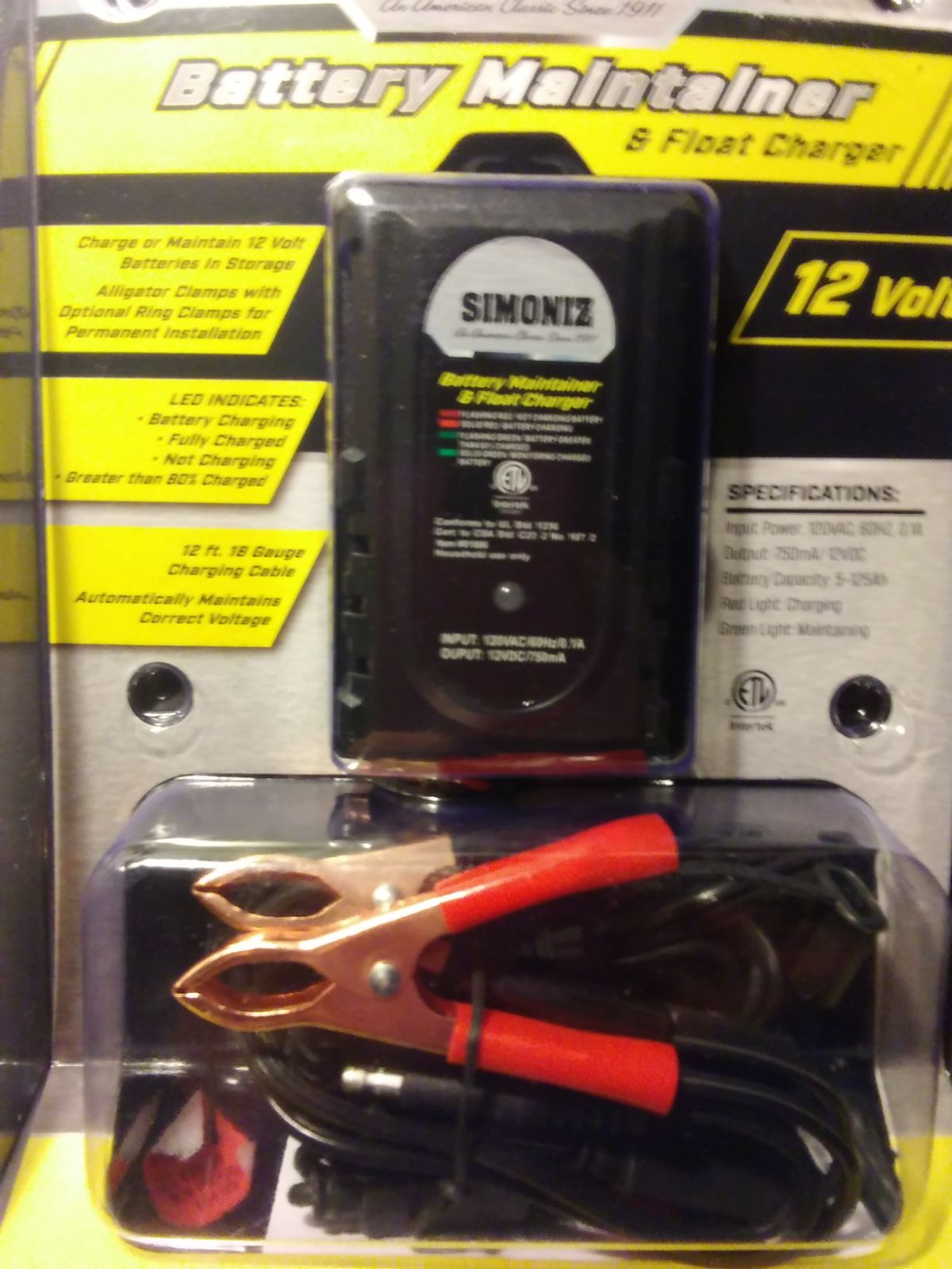 battery maintainer and float charger