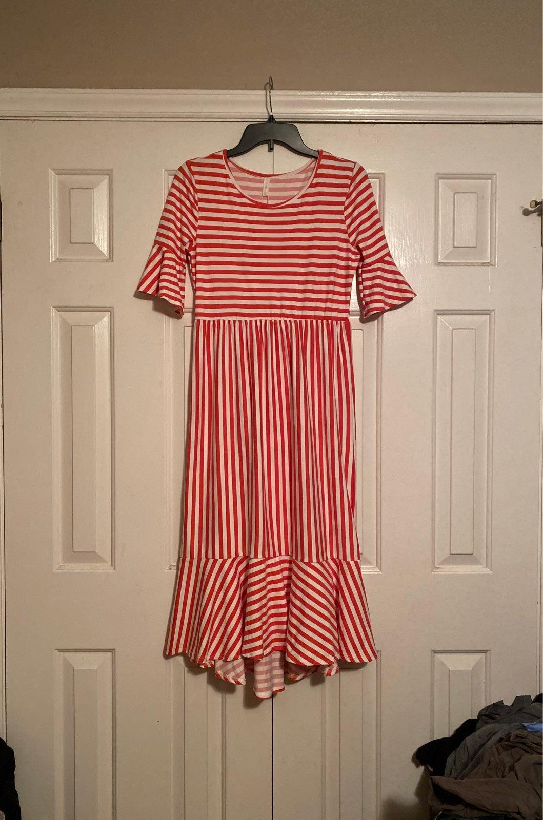 NWT Pink Blush coral striped dress M