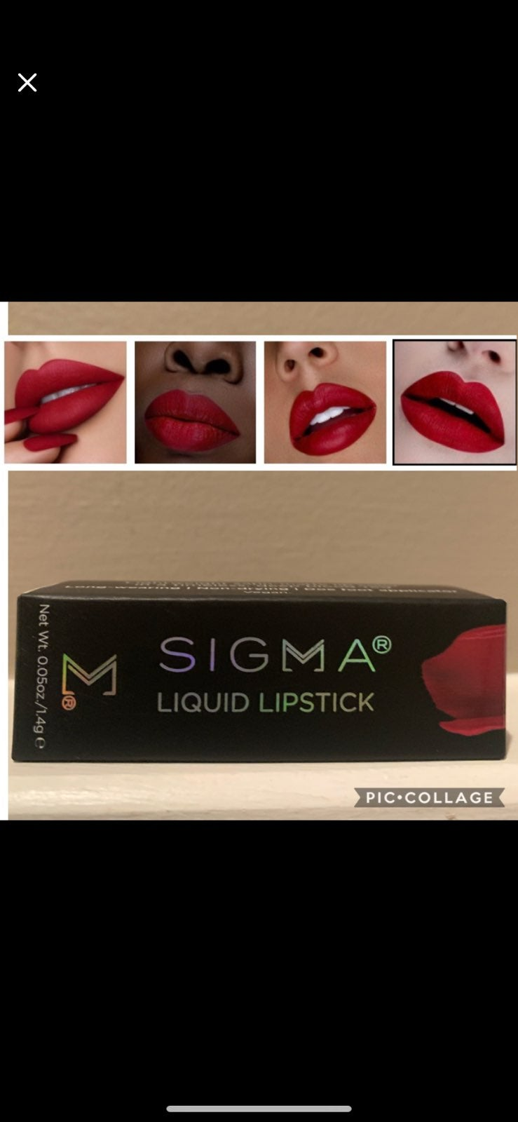 NWT Sigma Lip Color in VENOM