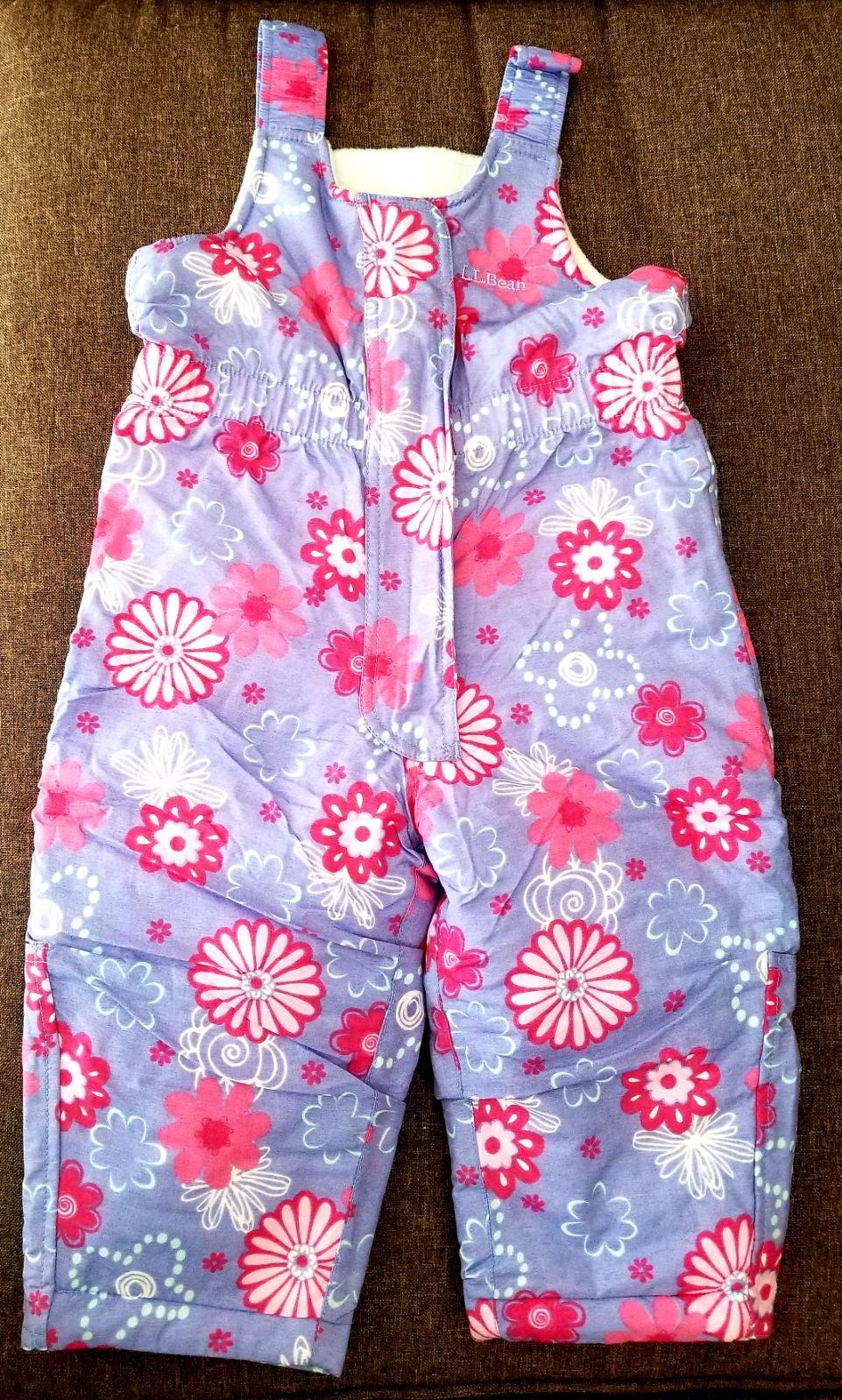 L.L. Bean 2T Girls Snow suit Jumper suit