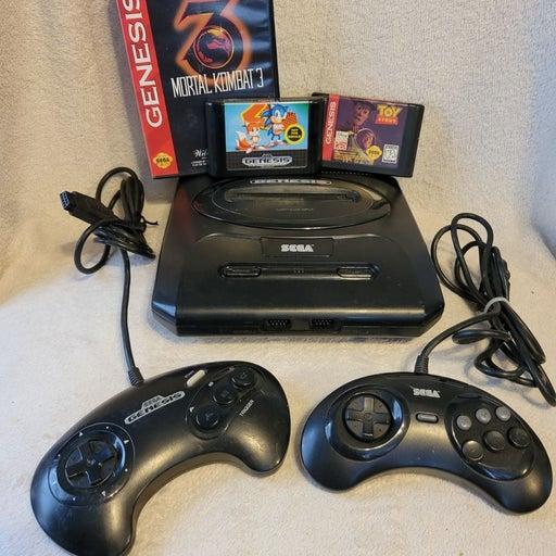 Sega Genesis 2 Console controllers games