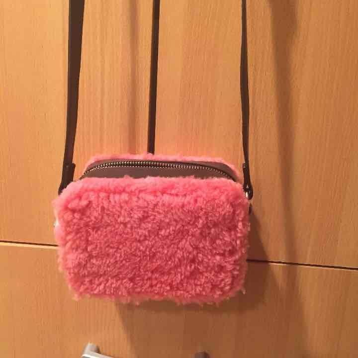 Sandro pink Aida Faux mini bag