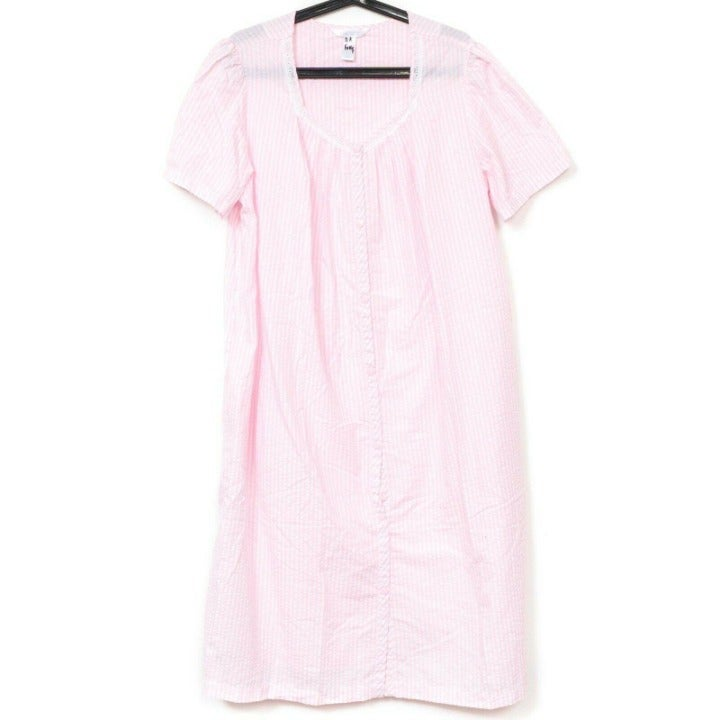 Adonna Housecoat Robe L Womens Pink