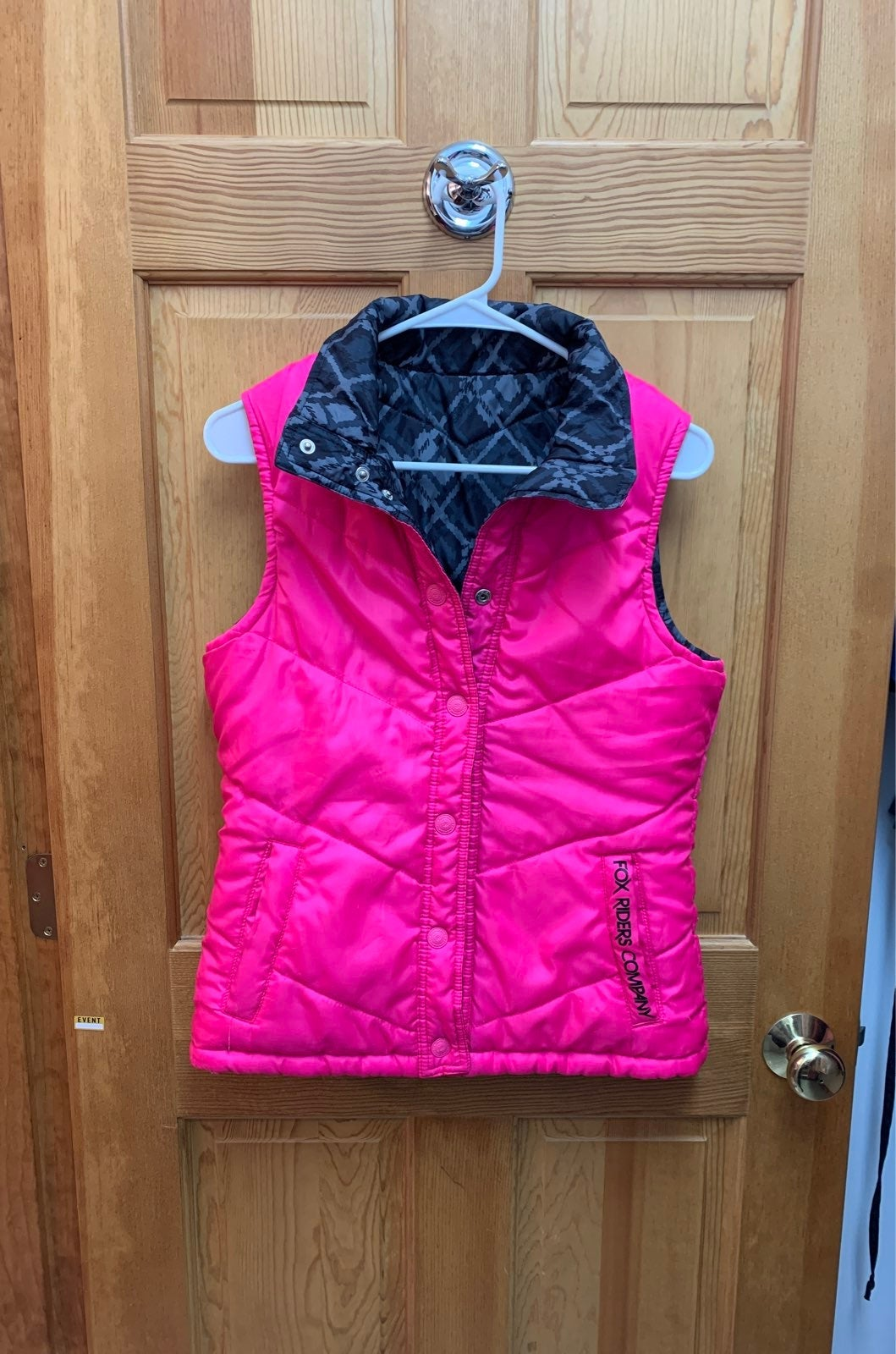 Womans reversible Fox Puffer Vest
