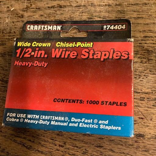 Craftsman Staples 1000 1/2 Chisel Point