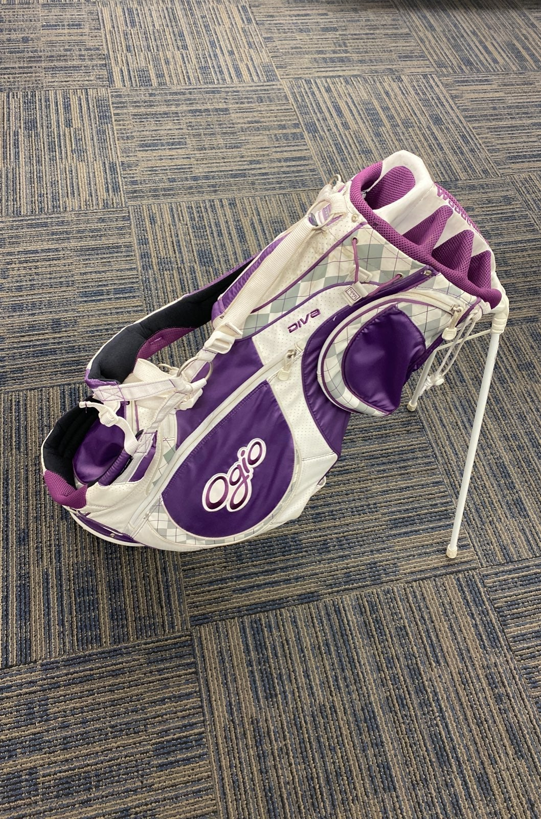 Womens OGIO Diva White/Purple Golf Carry