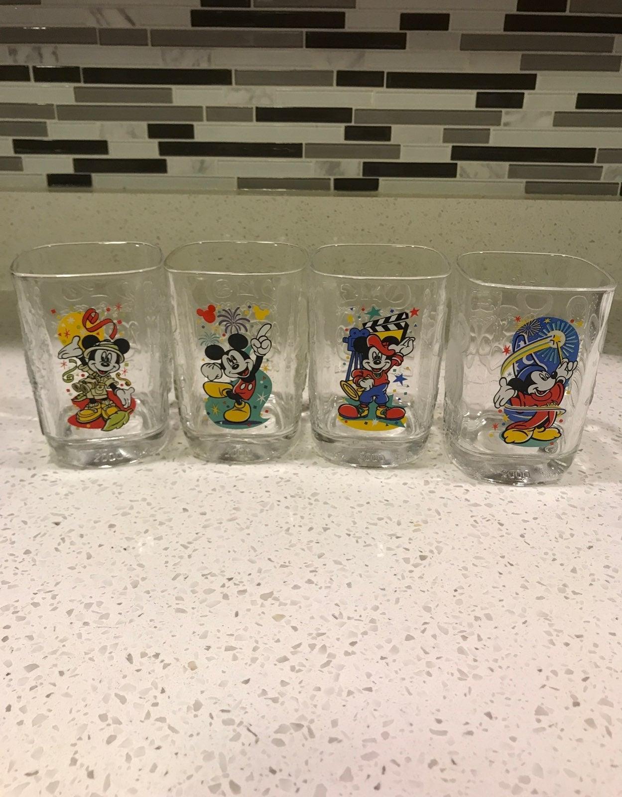 McDonalds Mickey Mouse Walt Disney Cups