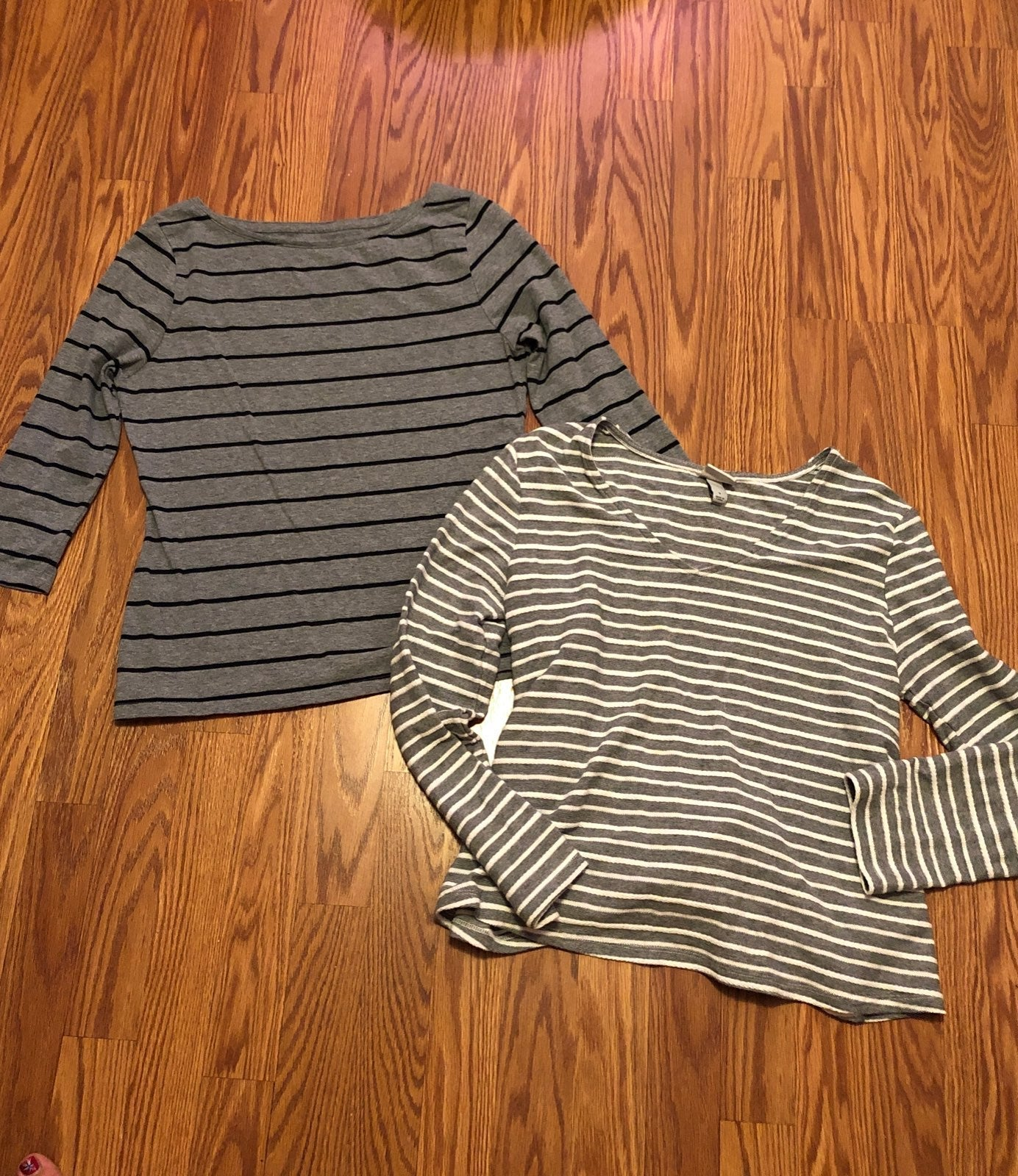 Lot of 2 Striped Shirts, Small