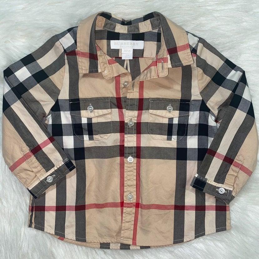 BURBERRY Shirt BABY BOY Size 12m