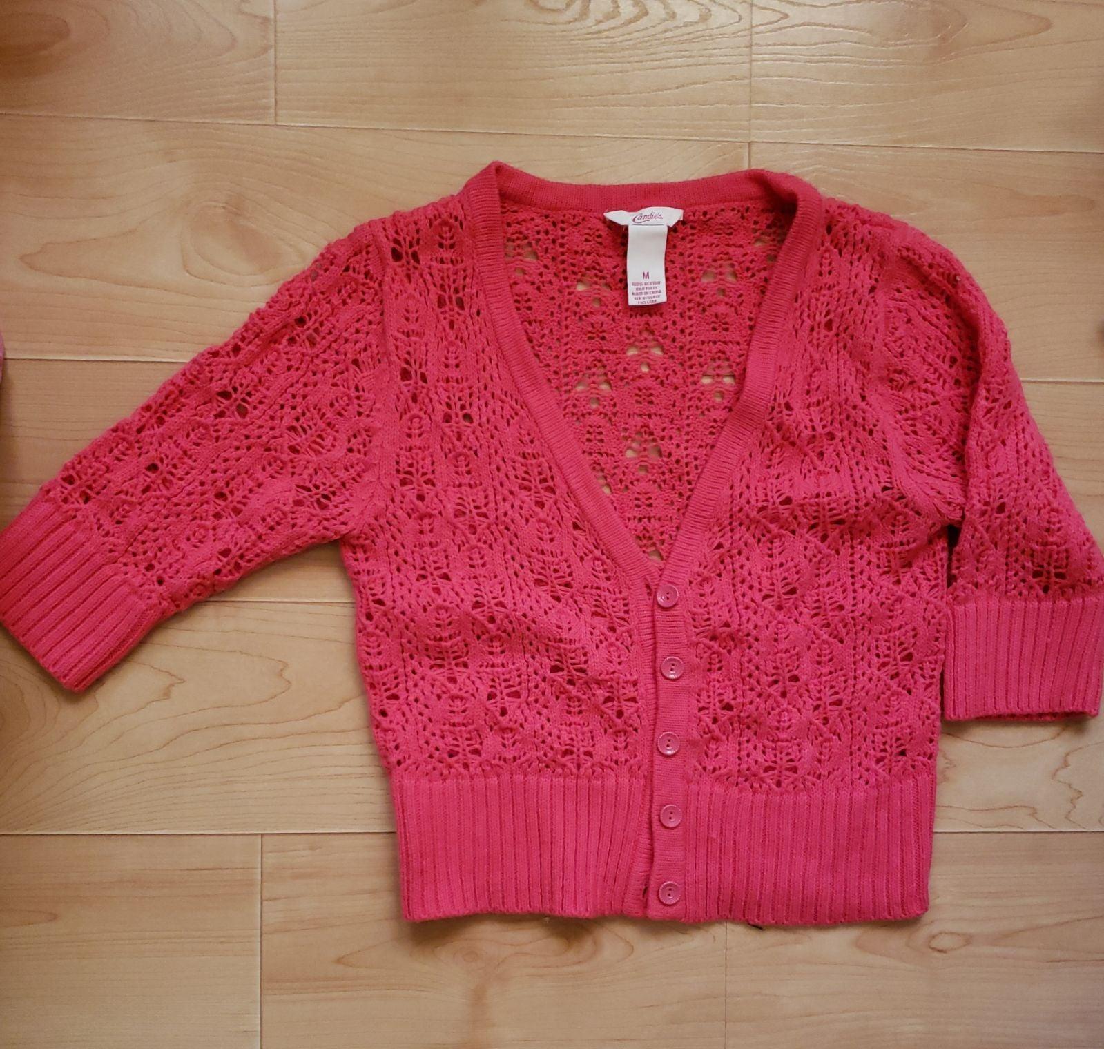 Cardigan pink crochet