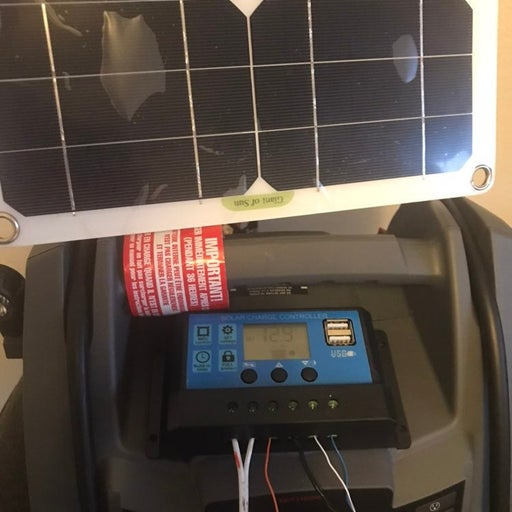400W solar generator w 70W mono panel