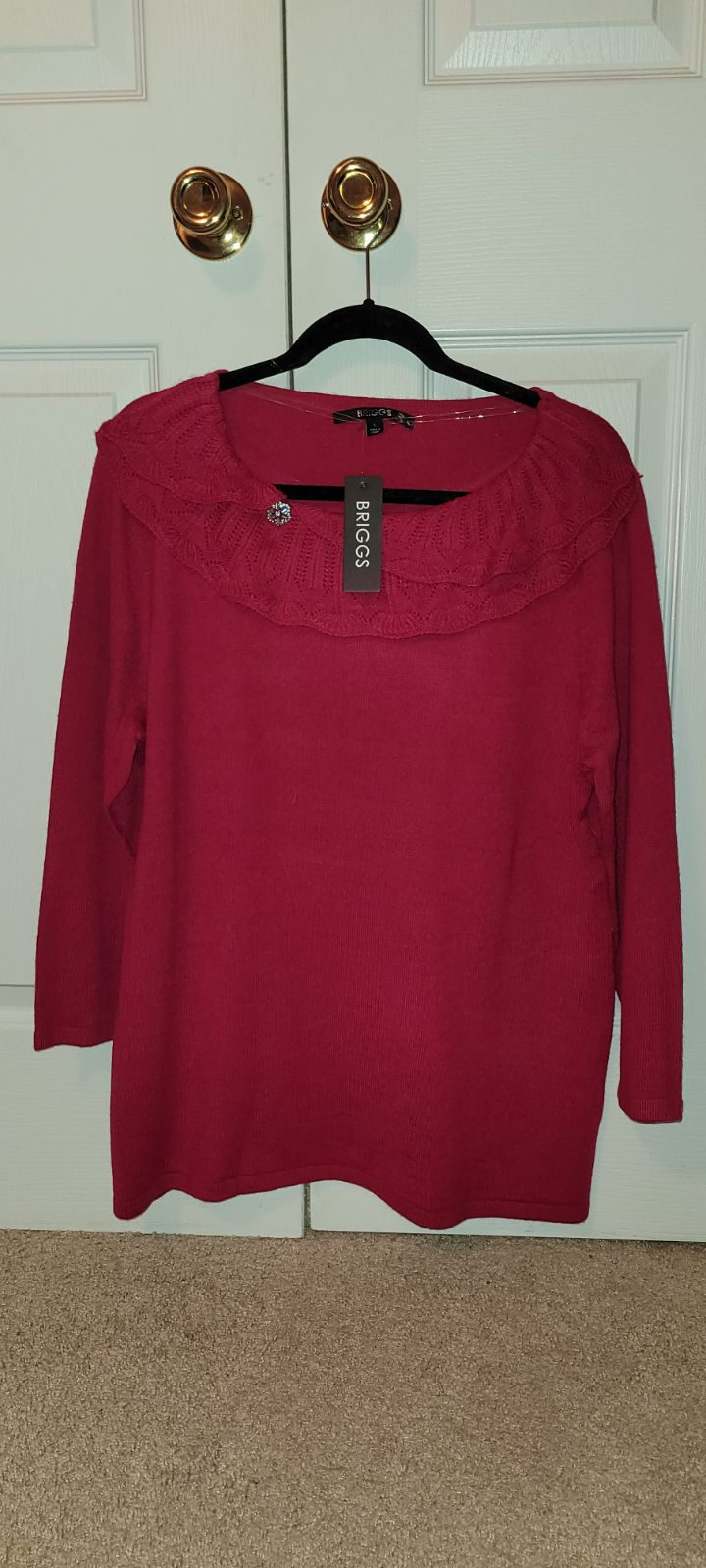 NWT Red Briggs Sweater