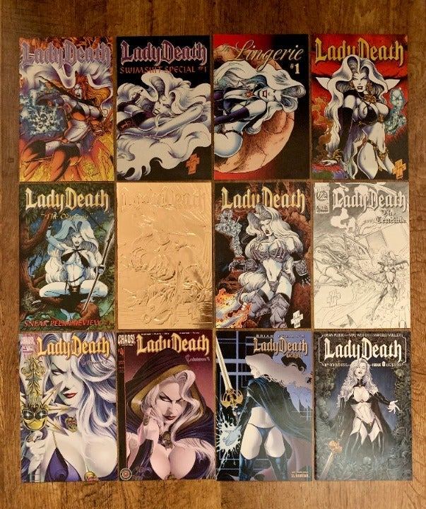 LADY DEATH 12 ISSUE COMIC LOT!! HOT!!