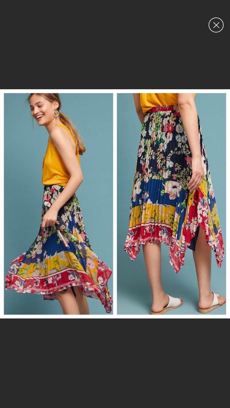 NWT Sz XL Anthropologie Maxi Skirt